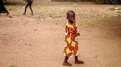 Africa kids native village Stock Footage