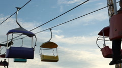 Amusement Park Fair Carnival Rides Stock Footage