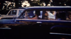 1951: Women liberation independant car travel vacations. LINCOLN, NEBRASKA Stock Footage