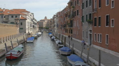 Fondamenta Procuratie with Rio dei Tolentini in Venice Stock Footage