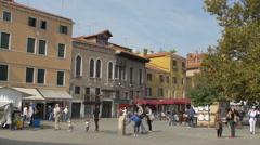 Stock Video Footage of People walking in Campo Santa Margherita in Venice