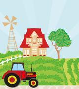Stock Illustration of rural landscape