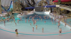 Activities in the aquapark, dances - stock footage