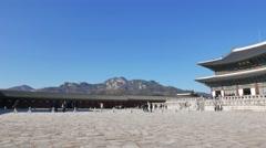 Geunjeongjeon, the main throne hall of Gyeongbokgung Stock Footage