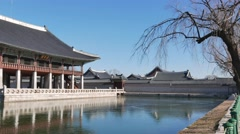 Gyeonghoeru pavilion, a hall used to hold imprtant and special state banquets Stock Footage