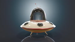 3D Flying saucer - stock footage