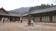 Jijangjeon in Bogwangsa temple Stock Footage