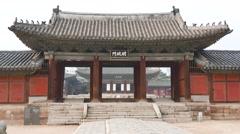 Myeongjeongmun, the main gate in Changgyeonggung Stock Footage