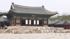 Myeongjeongjeon, main hall of Changgyeonggung. Stock Footage