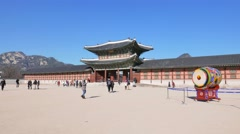 Heungnyemun, The secondary main inner gate of Gyeongbokgung - stock footage