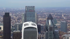 Aerial view of the City of London Stock Footage