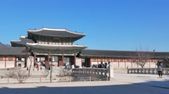 Geunjeongmun, the third inner gate of Gyeongbokgung Stock Footage