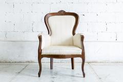 Stock Photo of White Retro Chair