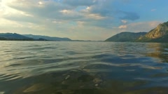 Traunsee Summer Lake (Austria). Stock Footage