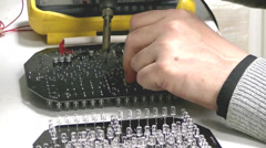 Soldering of radioelements on the PCB Stock Footage