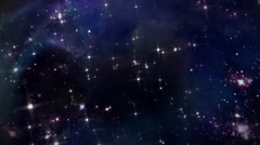 Stock Video Footage of space with pink star cross