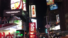 NYC Duffy Square Night ED Stock Footage