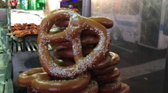 NYC Pretzels Night ED - stock footage