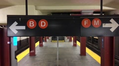 NYC Entering Subway ED Stock Footage