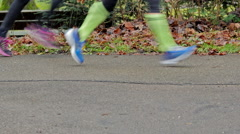 Running shoes close up - stock footage