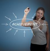 Achievement - stock photo