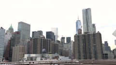 NYC Lower Manhattan Skyline Stock Footage
