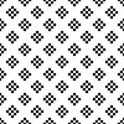 Pixel art tribal ethnic seamless pattern - stock illustration
