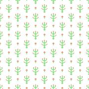 Cross stitch seamless vector pattern Stock Illustration