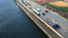 NYC FDR Drive from Manhattan Bridge ED - stock footage
