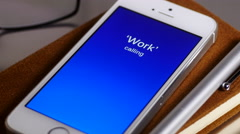 Missed call on smartphone - stock footage