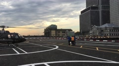 NYC Taking Off with Helicopter ED Stock Footage