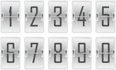 Clock counter toggling digits light Piirros