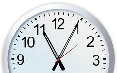 Cut out of simple modern analog wall clock Stock Illustration