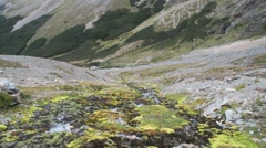 Creek at Martial mountain Stock Footage