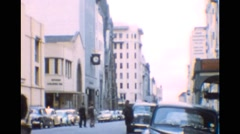 Cape Town South Africa 1950s street scene Stock Footage