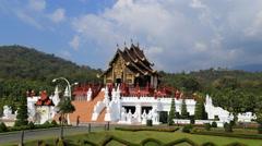 Timelapse of Royal Park Rajapruek (Hor Kam Luang) in Chaing Mai, Thailand Stock Footage