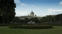 Time lapse of the Volksgarten in Vienna Stock Footage