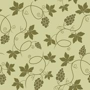 Grapes seamless pattern - stock illustration