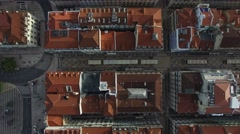 Top View of Lower Town, Lisbon, Portugal Stock Footage