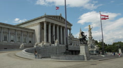 Hyperlapse of the parliament building in Vienna Stock Footage