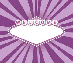 Welcome sign background - stock illustration