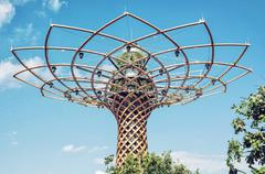Tree of life at exhibition Expo Milano 2015, Italy Stock Photos
