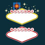 Welcome sign design elements - stock illustration