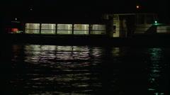 Venice Vaporetto at Night - stock footage