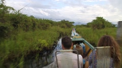 Tourists at a boat trip Stock Footage