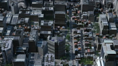 Tsunami in the city - stock footage