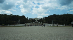 Time lapse of Schonbrunn gardens Stock Footage
