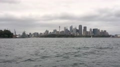 Sydney From Ferry Stock Footage