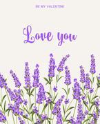 Lavender sign label Stock Illustration