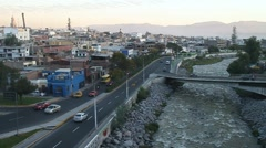 View of Arequipa with Chili river Stock Footage